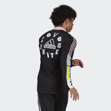 ผู้ชาย ฟุตบอล สีดำ เสื้อแทรคแจ็คเก็ต adidas Love Unites Tiro