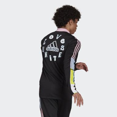 Futbal čierna Tepláková bunda adidas Love Unites Tiro