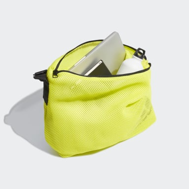 Women Tennis Yellow Mesh Carryall Tote Bag
