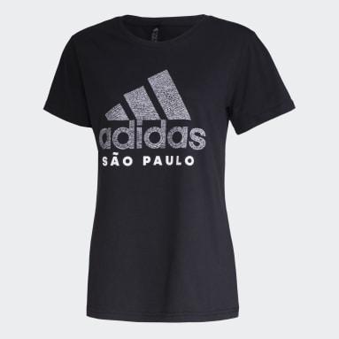 Camiseta SP Scrawl Preto Mulher Sportswear