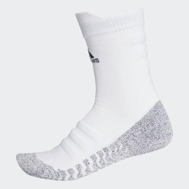 Running White Alphaskin Traxion Lightweight Cushioning Crew Socks