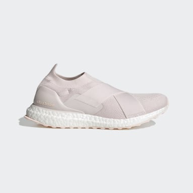 Women Running Pink Ultraboost Slip-On DNA Shoes