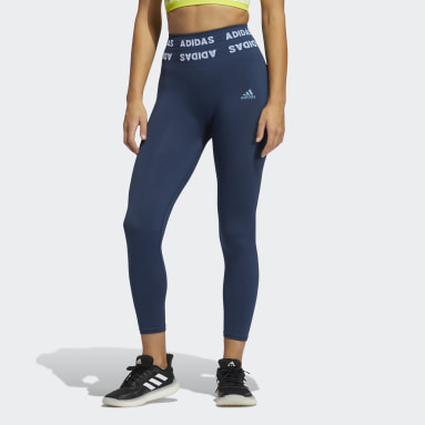 Tight Training Aeroknit 7/8 High-Rise Bleu Femmes Running