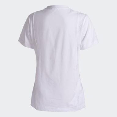 Camiseta Estampada Branco Mulher Estilo Esportivo
