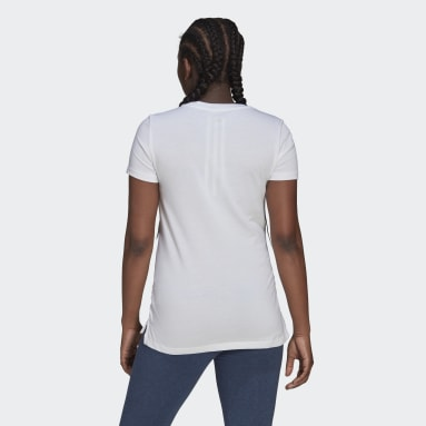 Women Sportswear White Essentials Cotton T-Shirt (Maternity)