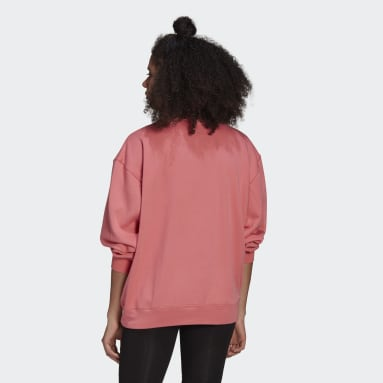 Dames Originals roze LOUNGEWEAR Adicolor Essentials Sweatshirt