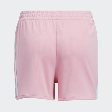 Children Training Pink Stripe Mesh Shorts