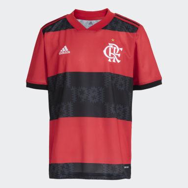 Camisa 1 CR Flamengo 21/22 Vermelho Meninos Futebol