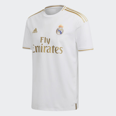 Men Football White Real Madrid Home Jersey