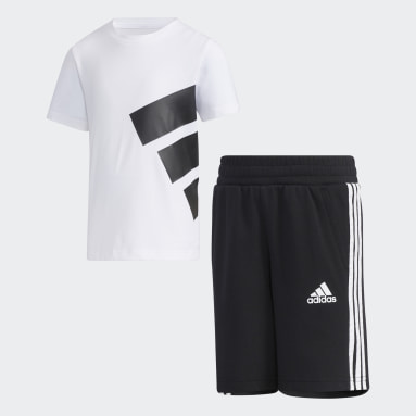 Kids Training White Brand Tee Set
