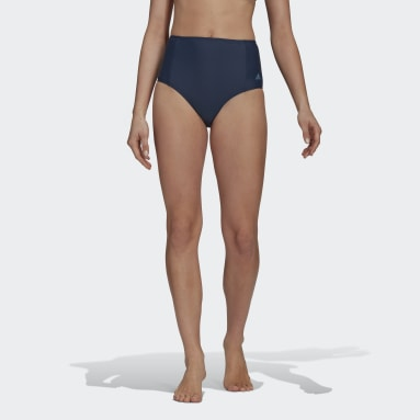 High-Waisted Bikiniunderdel Blå
