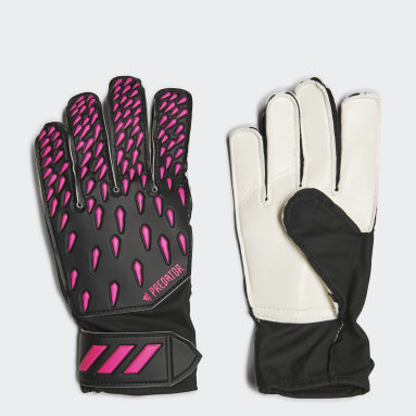 Youth 8-16 Years Football Black Predator Training Goalkeeper Gloves