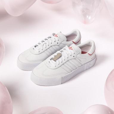 Frauen Originals Swarovski® Kristall SAMBAROSE Schuh Weiß