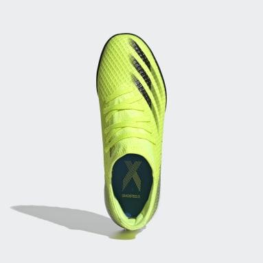 Zapatilla de fútbol X Ghosted.3 moqueta Amarillo Niño Fútbol