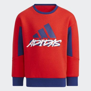 Boys Training Red Fleece Crewneck Sweatshirt