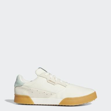 Men Golf White Adicross Retro Spikeless Shoes
