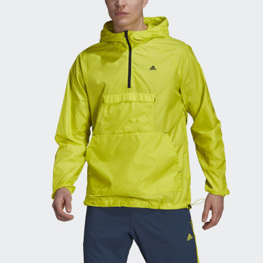 Men Training Yellow Designed 2 Move Activated Tech AEROREADY Windbreaker