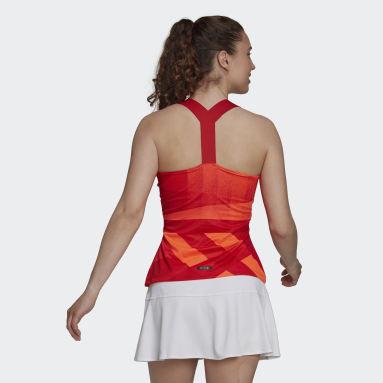 Playera sin Mangas HEAT.RDY Primeblue Espalda en Y Tenis Rojo Mujer Tennis