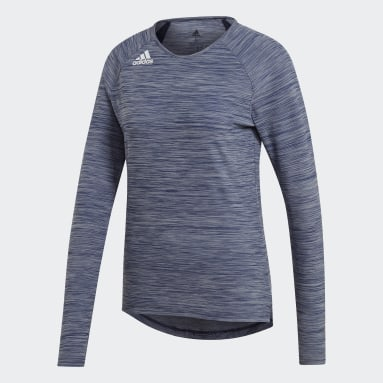 Dames Squash Blauw Hi Lo Sportshirt