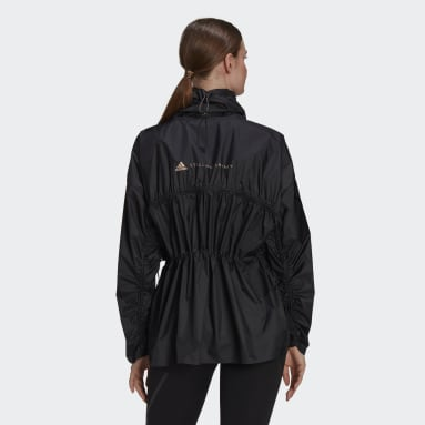 Women adidas by Stella McCartney Black adidas by Stella McCartney Half-Zip Mid-Length Jacket