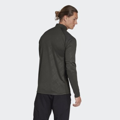 Men TERREX Green Terrex Tracerocker Half-Zip Long Sleeve Tee