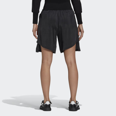 Women Y-3 Black Y-3 CH3 Sanded Cupro Shorts