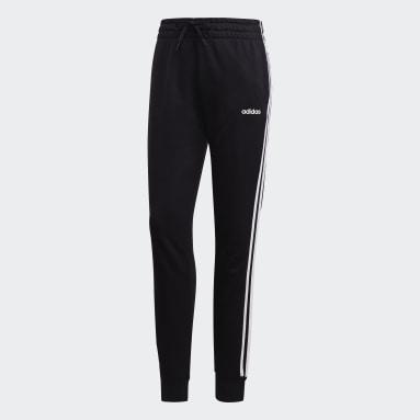 Calças 3 Riscas Essentials Preto Mulher Sportswear