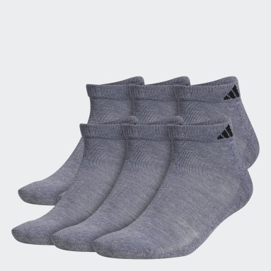 Men's Running Grey Athletic Low-Cut Socks 6 Pairs