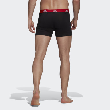 Men Gym & Training Black Logo Boxer Briefs 3 Pairs