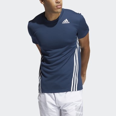 Men Training Blue AEROREADY 3-Stripes Tee