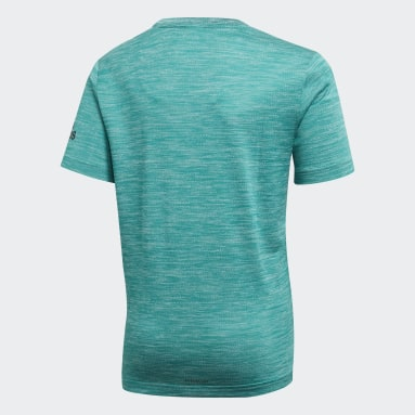 Boys Yoga Green Gradient Tee
