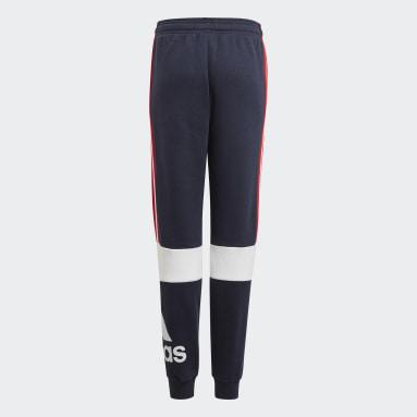 Pantalon adidas Essentials Colorblock Bleu Garçons Sportswear