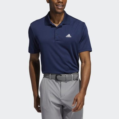 Männer Golf Performance Primegreen Poloshirt Blau