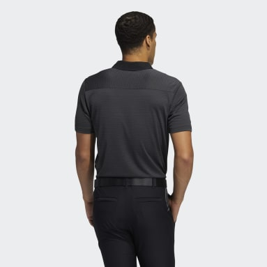 Men Golf Grey HEAT.RDY Micro-Stripe Polo Shirt