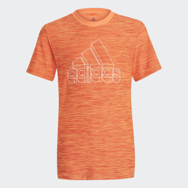 Youth 8-16 Years Gym & Training Orange AEROREADY Heather T-Shirt
