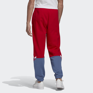 Men Originals Red Adicolor Sliced Trefoil Joggers