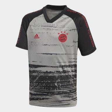 Kinder Fußball FC Bayern München Pre-Match Shirt Grau