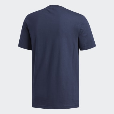 Men's Essentials Blue Badge of Sport Tee