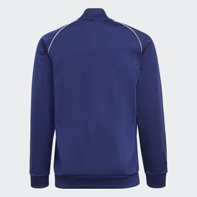 Veste de survêtement Adicolor SST Bleu Enfants Originals