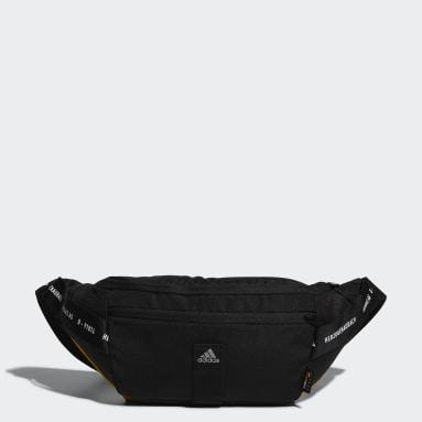 เทรนนิง สีดำ กระเป๋าคาดเอวสไตล์สตรีท