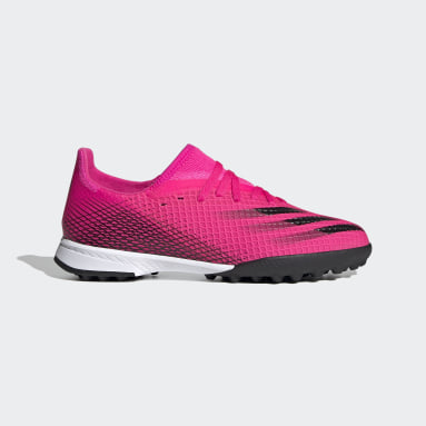 Children Soccer Pink X Ghosted.3 Turf Shoes