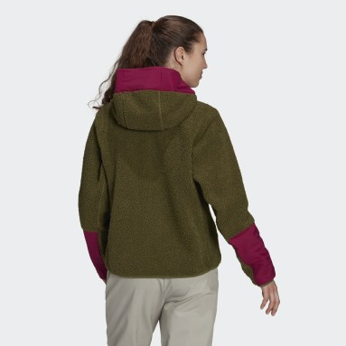 Veste Terrex Sherpa Hooded Fleece Marron Femmes TERREX