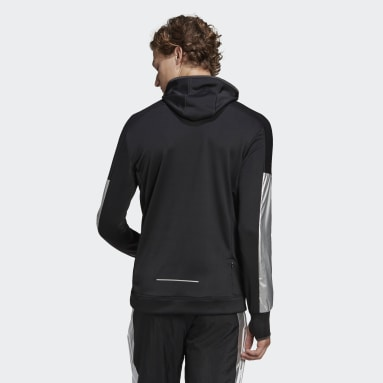 Men Running Black Space Race Hoodie