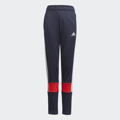 Kluci Cvičení A Trénink modrá Kalhoty 3-Stripes AEROREADY Primeblue