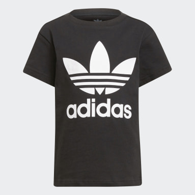 Děti Originals černá Tričko Adicolor Trefoil