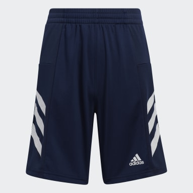 Children Training Blue Pro Sport 3-Stripes Shorts