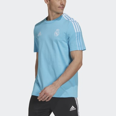 Men Football Turquoise Real Madrid Tee