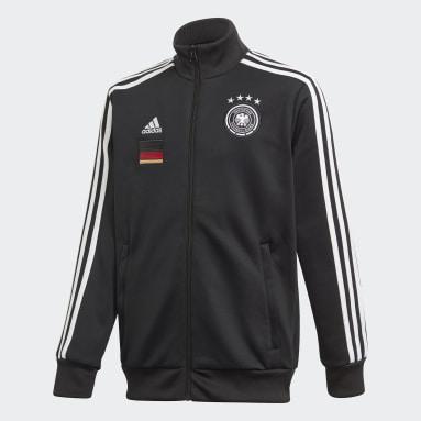 Kids Football Black Germany 3-Stripes Track Jacket