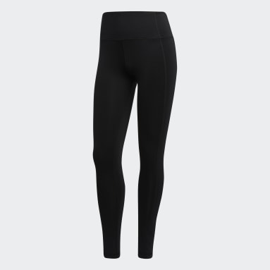 Women Gym & Training Black 7/8 Tights