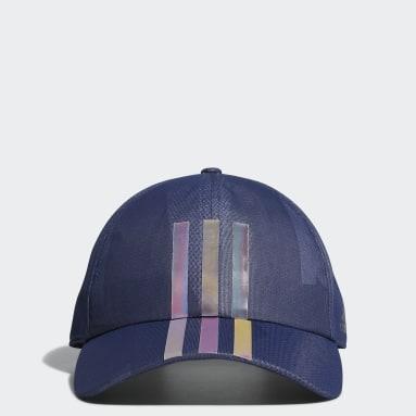 Men Golf Blue 3-Stripes Light Cap